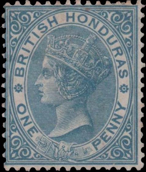 British_Honduras_QV_1d_Genuine