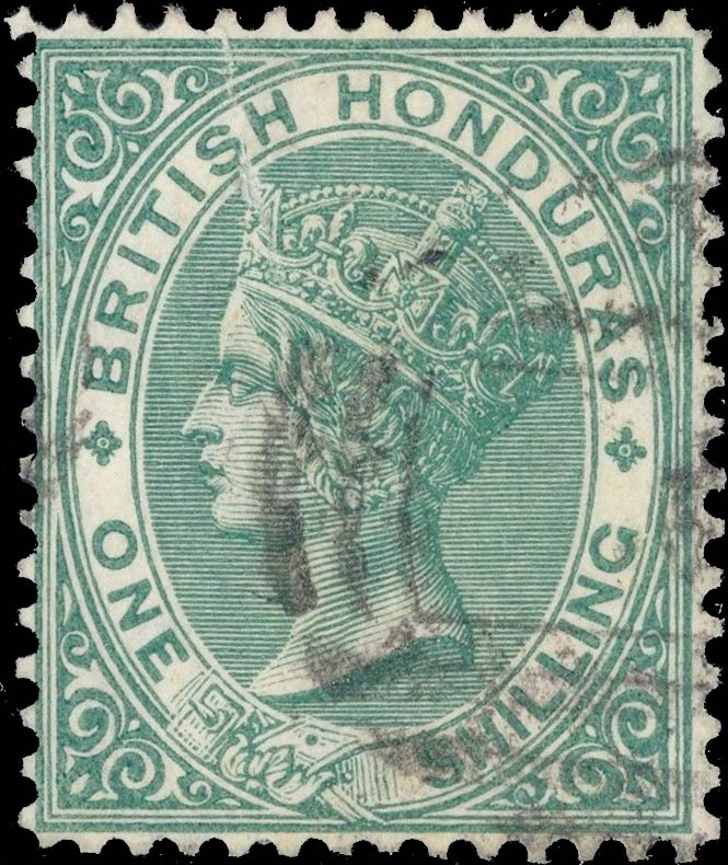 British_Honduras_QV_1s_Genuine