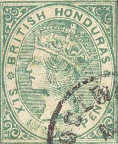 British_Honduras_QV_6p_Green_Forgery
