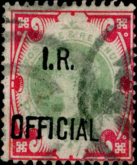 Great_Britain_I.R.Official_1s_Forged_Overprint