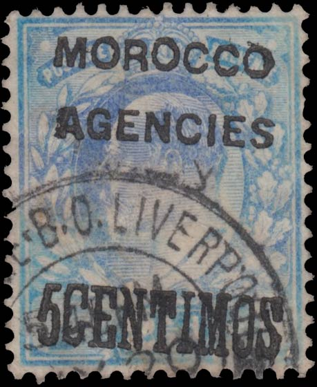 Great_Britain_Moroco_Agencies_1902_Edward_2.5d_5_Centimos_Forgery