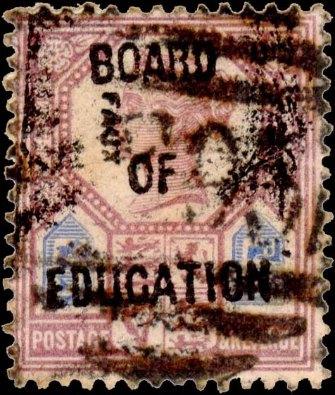 Great_Britain_Official_1902_QV_5p_Board_of_Education_Fournier_Forgery