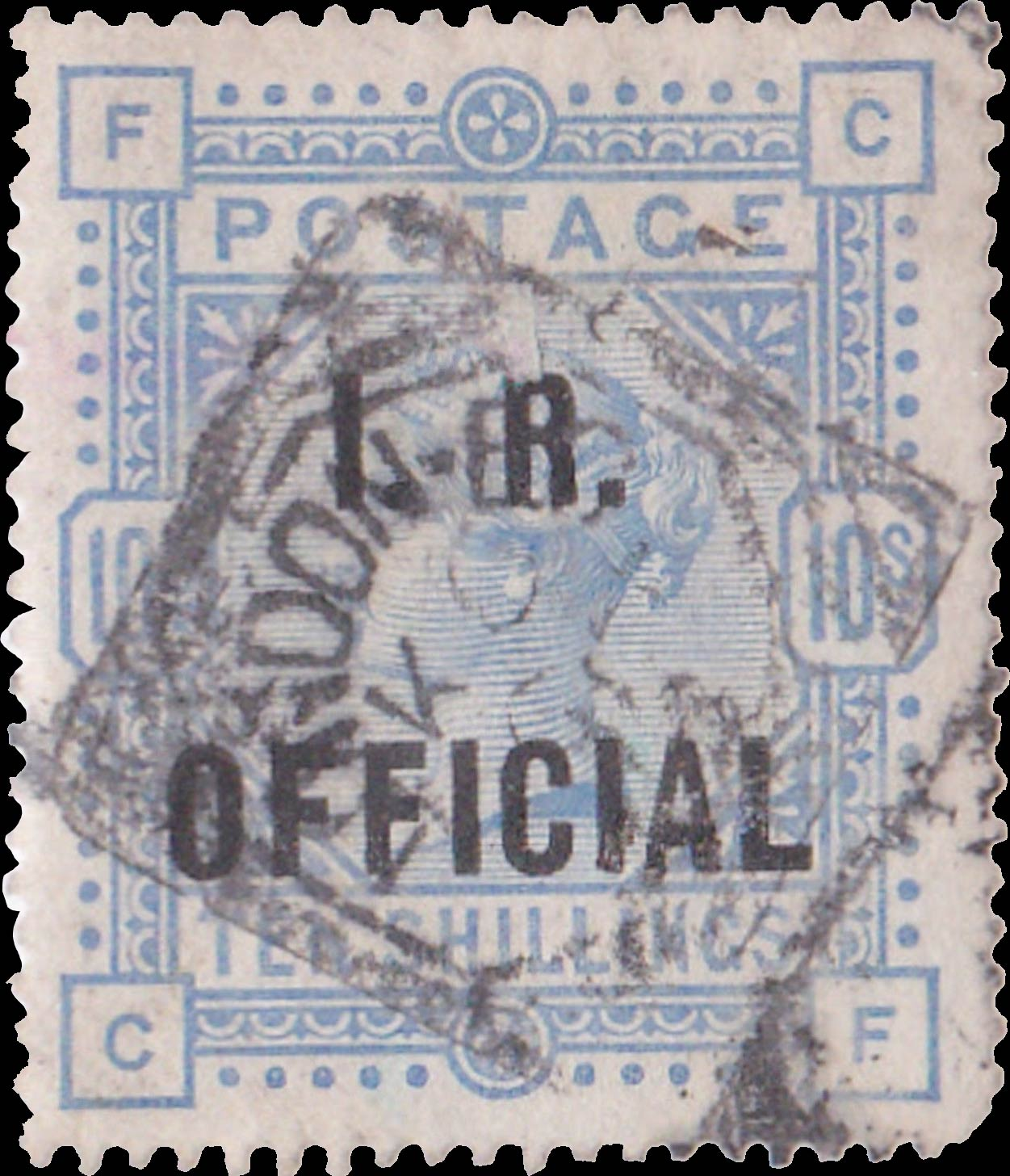 Great_Britain_Official_QV_10s_I.R.Official_Forgery