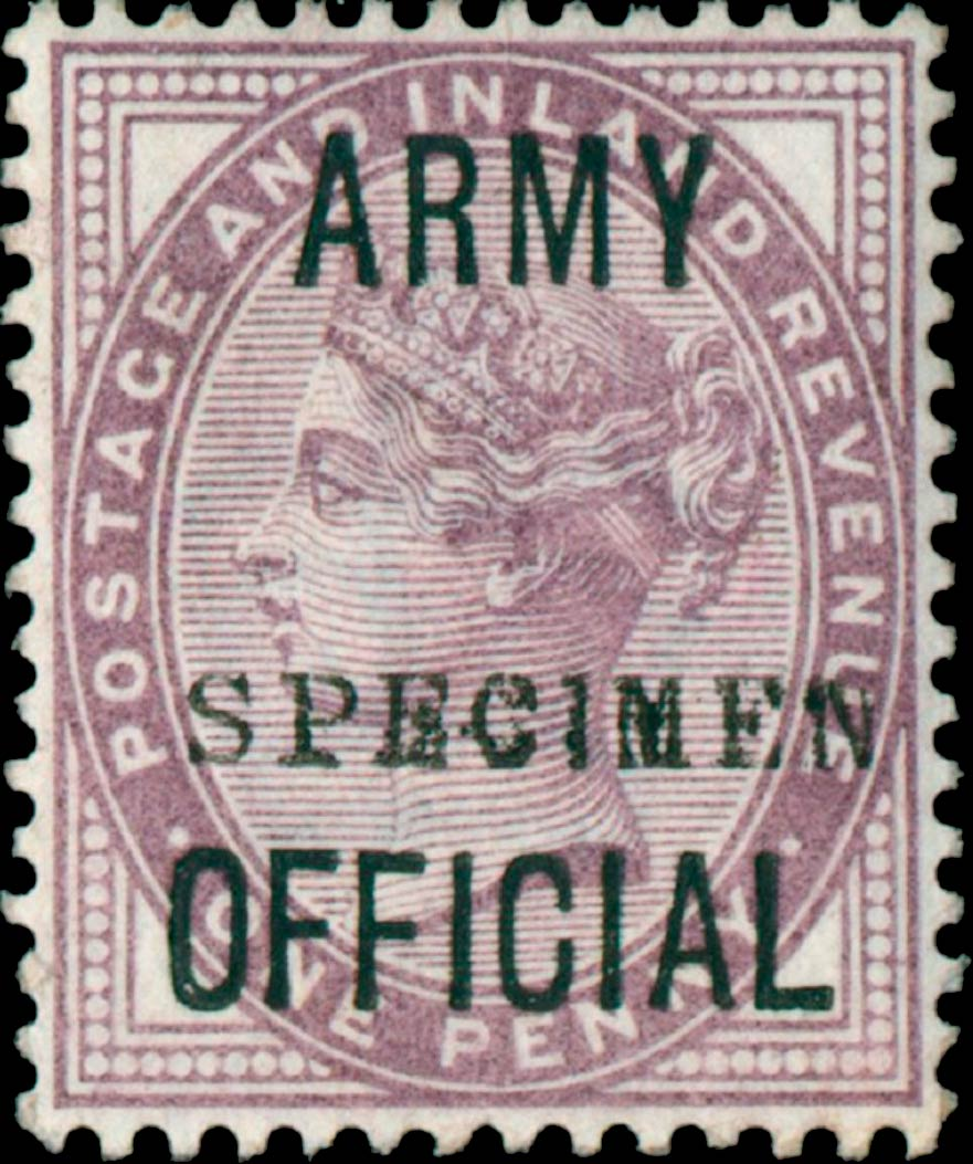 Great_Britain_Official_QV_1p_Army-Official_Specimen_Genuine