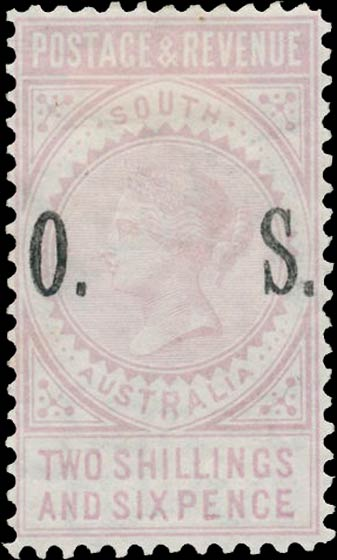 South_Australia_1891_Postage_and_Revenue_2s6p_OS_Forgery