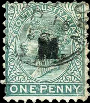 South_Australia_QV_1p_Military_overprint_Forgery