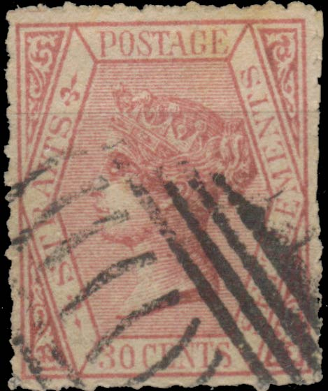 Straits_Settlements_1872_QV_30p_Forgery
