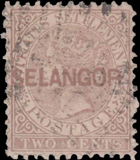 Straits_Settlements_QV_2c_Selangor_Overprint_Forgery