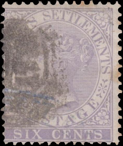 Straits_Settlements_QV_6c_Genuine