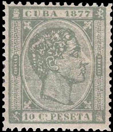 Cuba_1877_Alfonso_XII_10p_Forgery