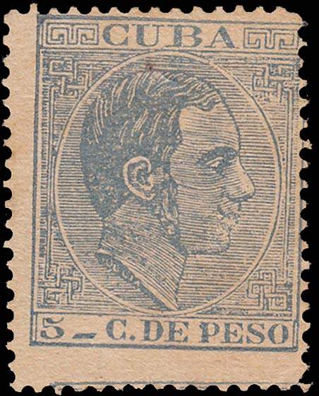 Cuba_1882_King-Alfonso_XII_5c_Forgery