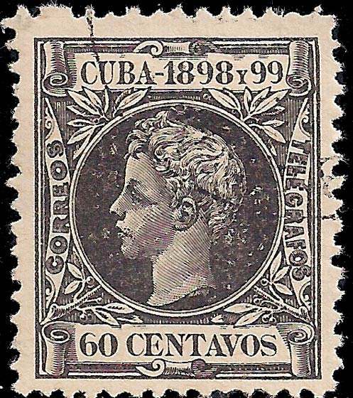 Cuba_1898_60c_Genuine
