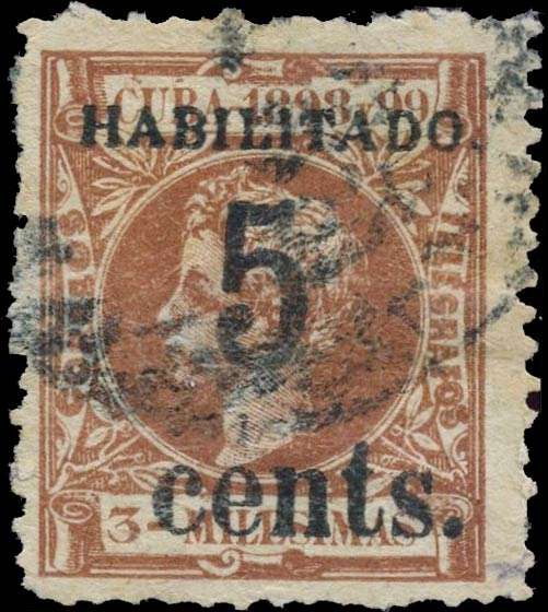 Cuba_Alfonso_Habilitado_5_Cents_Forgery
