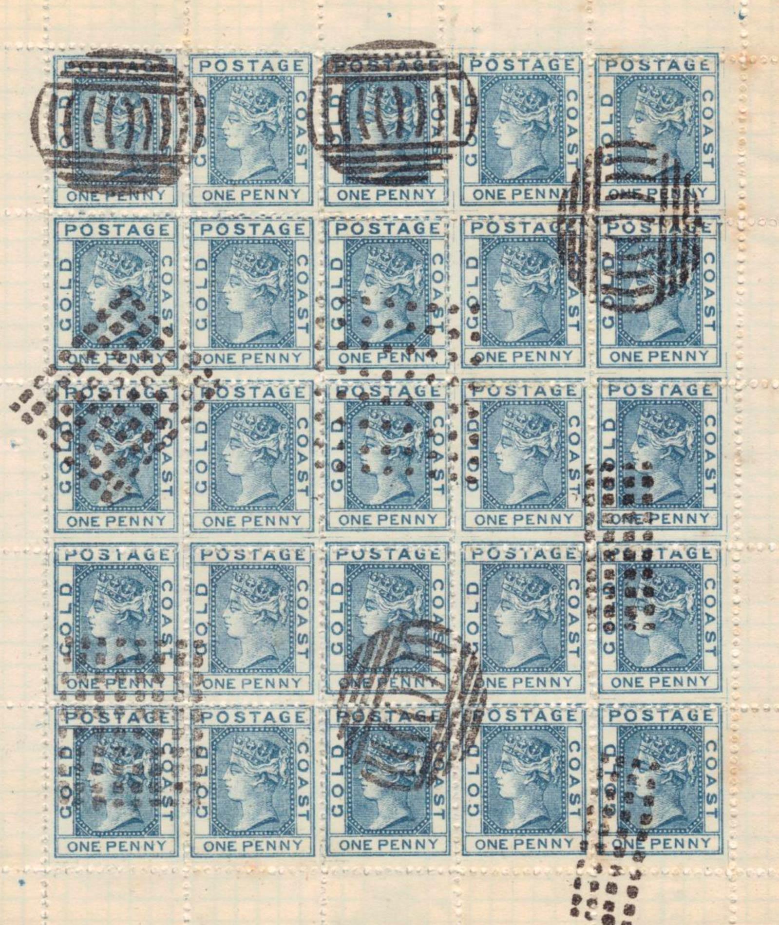 Gold_Coast_1875_QV_1d_Spiro-sheet_Forgery
