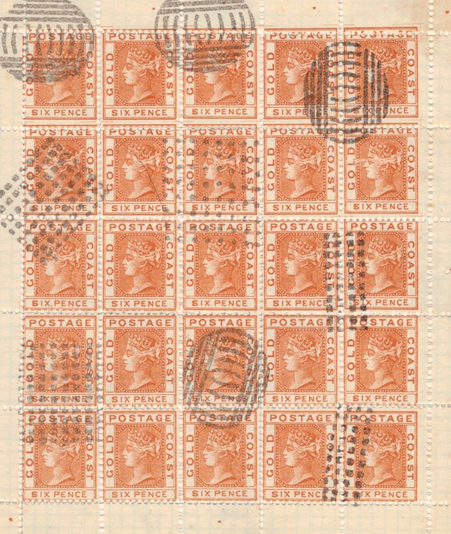 Gold_Coast_1875_QV_6d_Spiro-sheet_Forgery