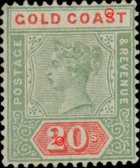 Gold_Coast_1889_QV_20sh_Sperati_Forgery