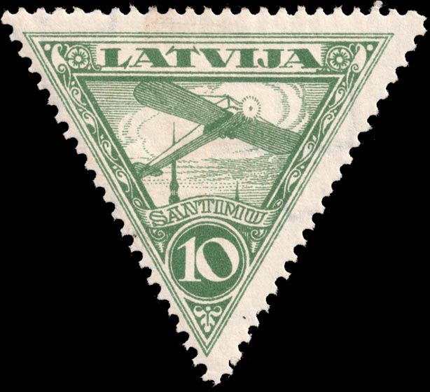 Latvia_1928_Airmail_10s_Genuine