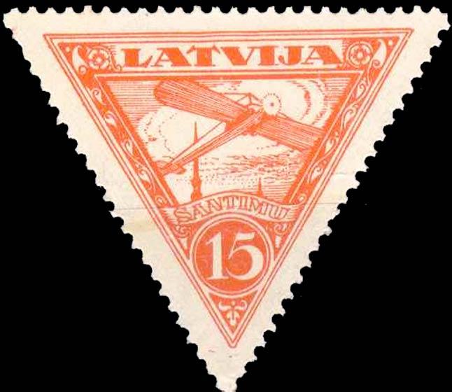 Latvia_1928_Airmail_15s_Forgery