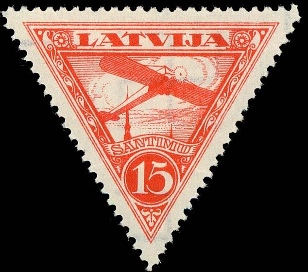 Latvia_1928_Airmail_15s_Genuine