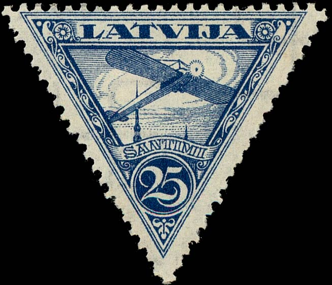 Latvia_1928_Airmail_25s_Genuine