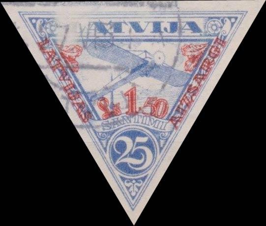 Latvia_1931_Airmail_Latvijas_Aizsargi-overprint_25s_Forgery