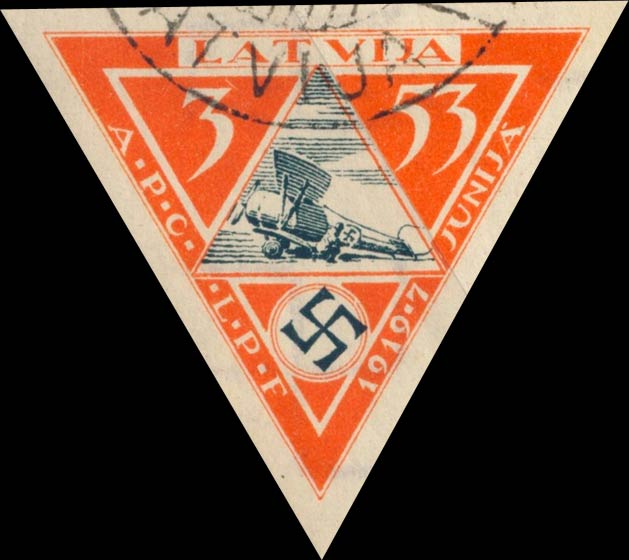Latvia_1933_Airmail_3-53s_Imperforate_Genuine