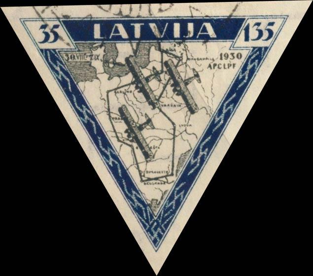 Latvia_1933_Airmail_35-135s_Imperforate_Genuine
