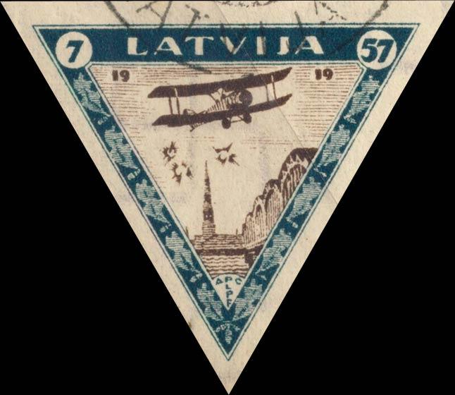 Latvia_1933_Airmail_7-57s_Imperforate_Genuine