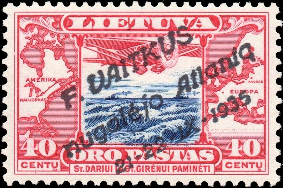 Lithuania_1935_Airmail_40cent_Surcharged_Forgery