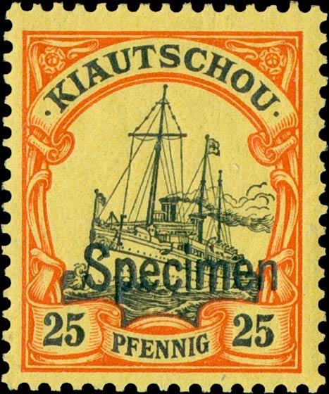 Kiautschou_25pfennig_Specimen_Genuine