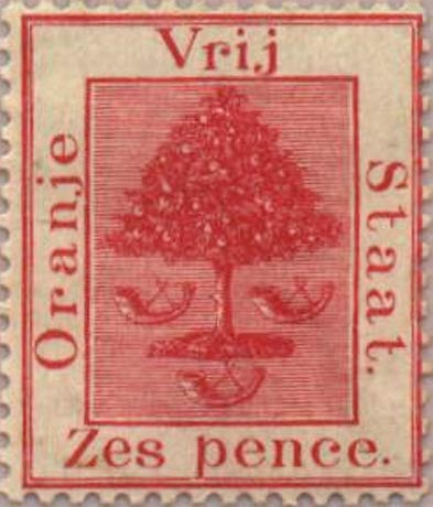 Orange_Free_State_1868_6d_Genuine1