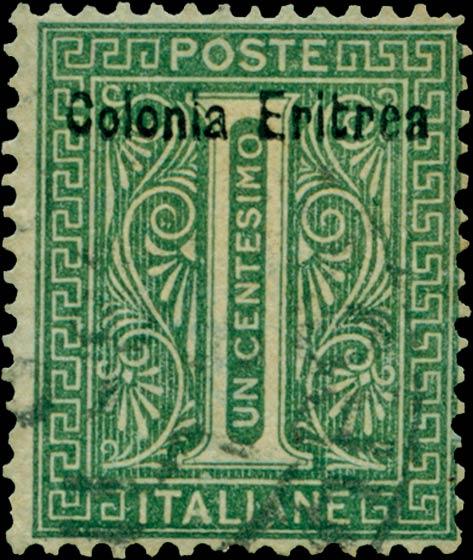 Eritrea_1893_Surcharged_Colonia_Eritrea_1c_Forgery