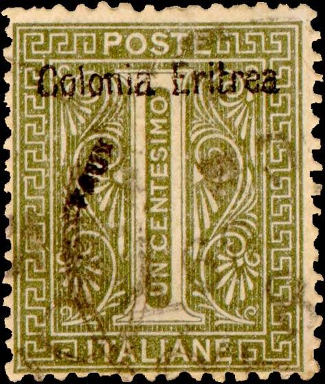 Eritrea_1893_Surcharged_Colonia_Eritrea_1c_Fournier_Forgery