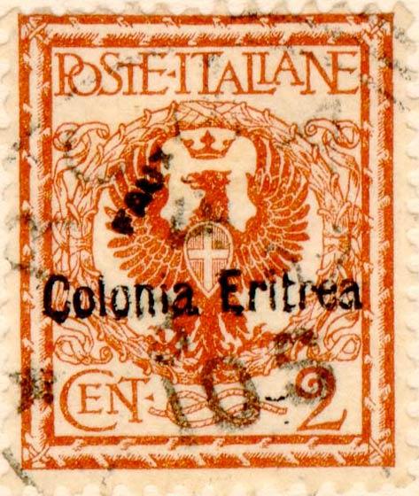 Eritrea_1903_Surcharged_Colonia_Eritrea_2c_Fournier_Forgery