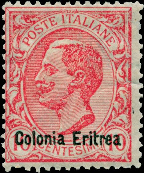 Eritrea_1908_Surcharged_Colonia_Eritrea_10c_Forgery