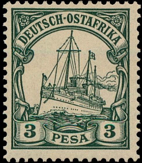 German_East_Africa_Kaiseryacht_3p_Genuine
