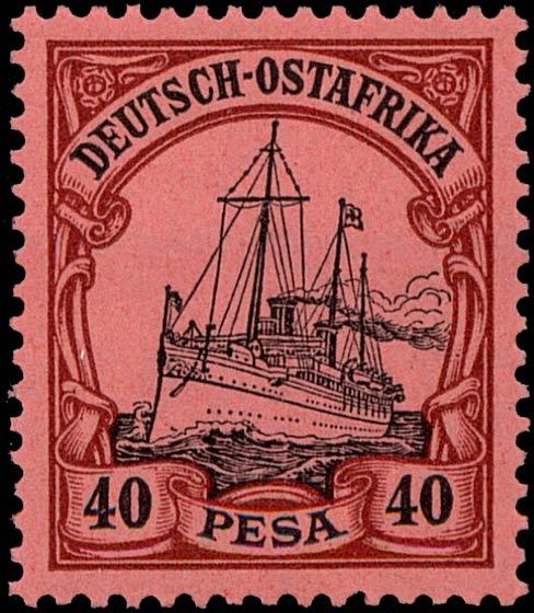 German_East_Africa_Kaiseryacht_40p_Genuine