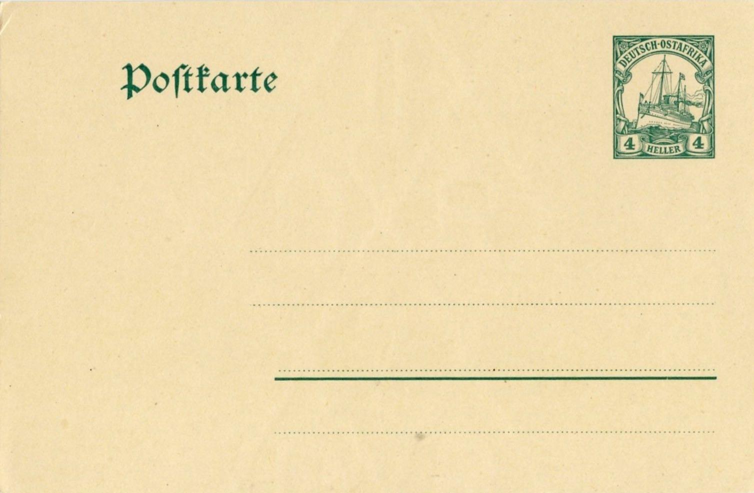 German_East_Africa_Postal_Stationary_P22