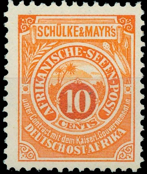 German_East_Africa_Schulke-and-Mayr_10c_Reprint