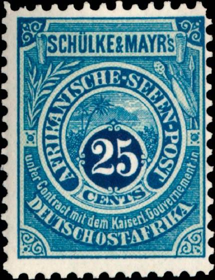 German_East_Africa_Schulke-and-Mayr_25c_Genuine