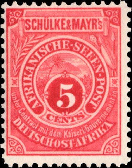 German_East_Africa_Schulke-and-Mayr_5c_Genuine