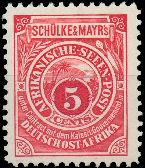 German_East_Africa_Schulke-and-Mayr_5c_Reprint