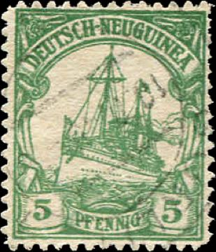 German_New_Guinea_1900_Hohenzollern_5pf_Forgery