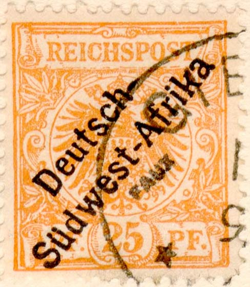 German_Southwest_Africa_1897_25pf_Fournier_Forgery
