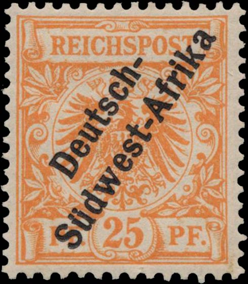 German_Southwest_Africa_1897_25pf_Genuine