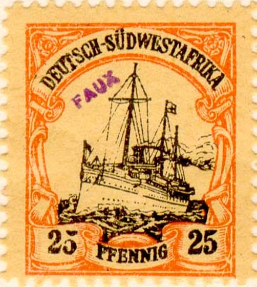 German_Southwest_Africa_1901_25pf_Fournier_Forgery