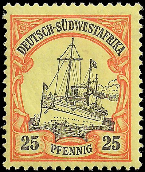 German_Southwest_Africa_1901_25pf_Genuine