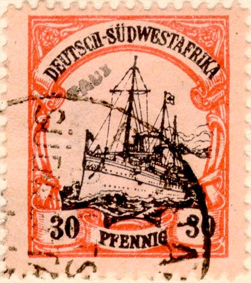 German_Southwest_Africa_1901_30pf_Fournier_Forgery