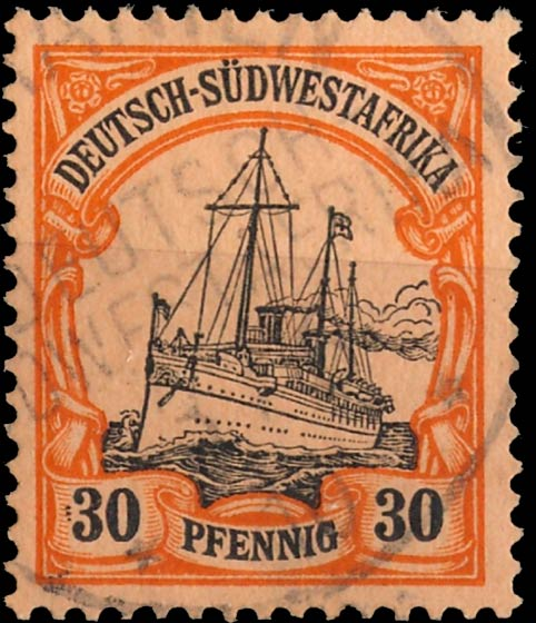 German_Southwest_Africa_1901_30pf_Genuine