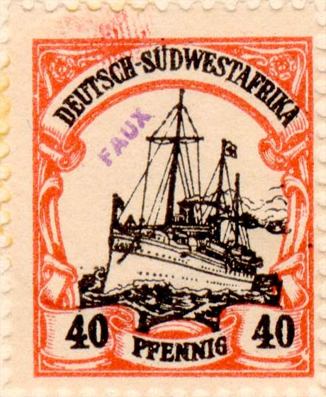 German_Southwest_Africa_1901_40pf_Fournier_Forgery